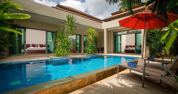 Villa Makole c 2 потрясающими спальнями, бассейном и садом NH0093