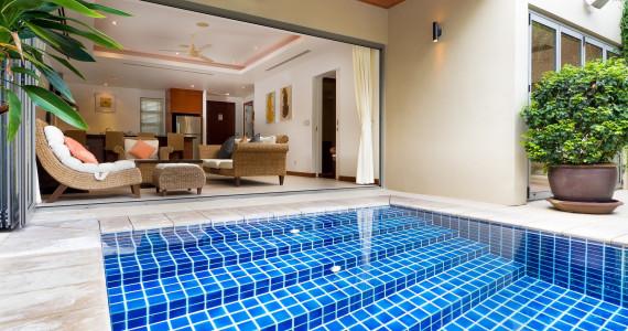 Двухспальная резиденция на пляже Банг Тао бассейном BT0008