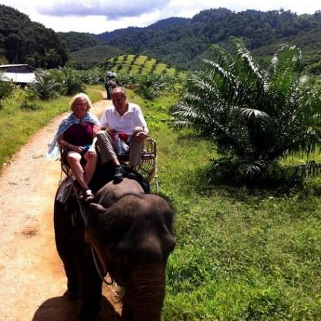 Экскурсия на слонах на Пхукете