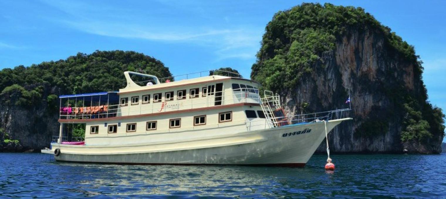 Остров Джеймса Бонда на большом корабле