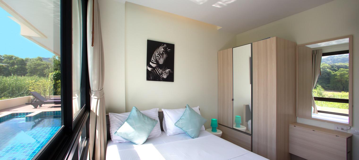 Двуспальные апартаменты на пляже Най Харн The Lago 05 NH0054