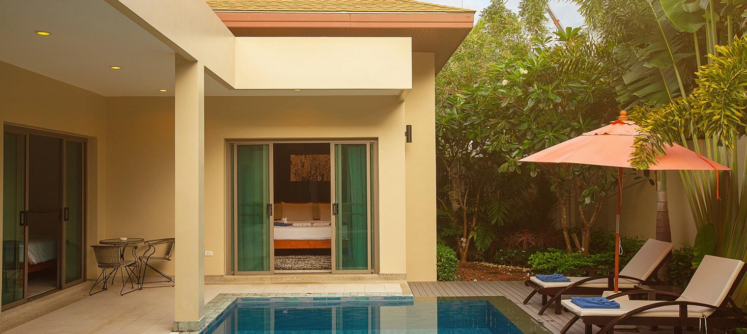 Трехспальная вилла Berry  с  тропическим садом и большим бассейном для всей семьи NH0087
