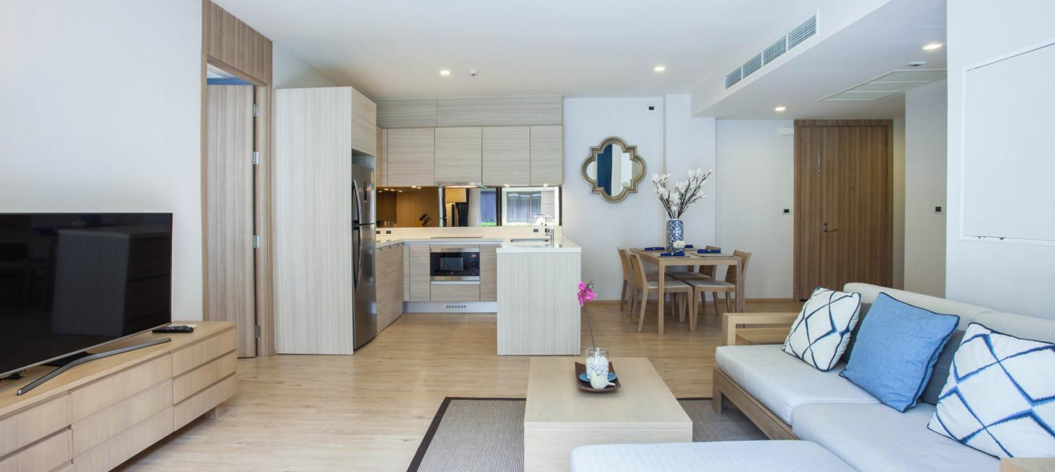 Двуспальные апартаменты  на пляже Май Као MK0001
