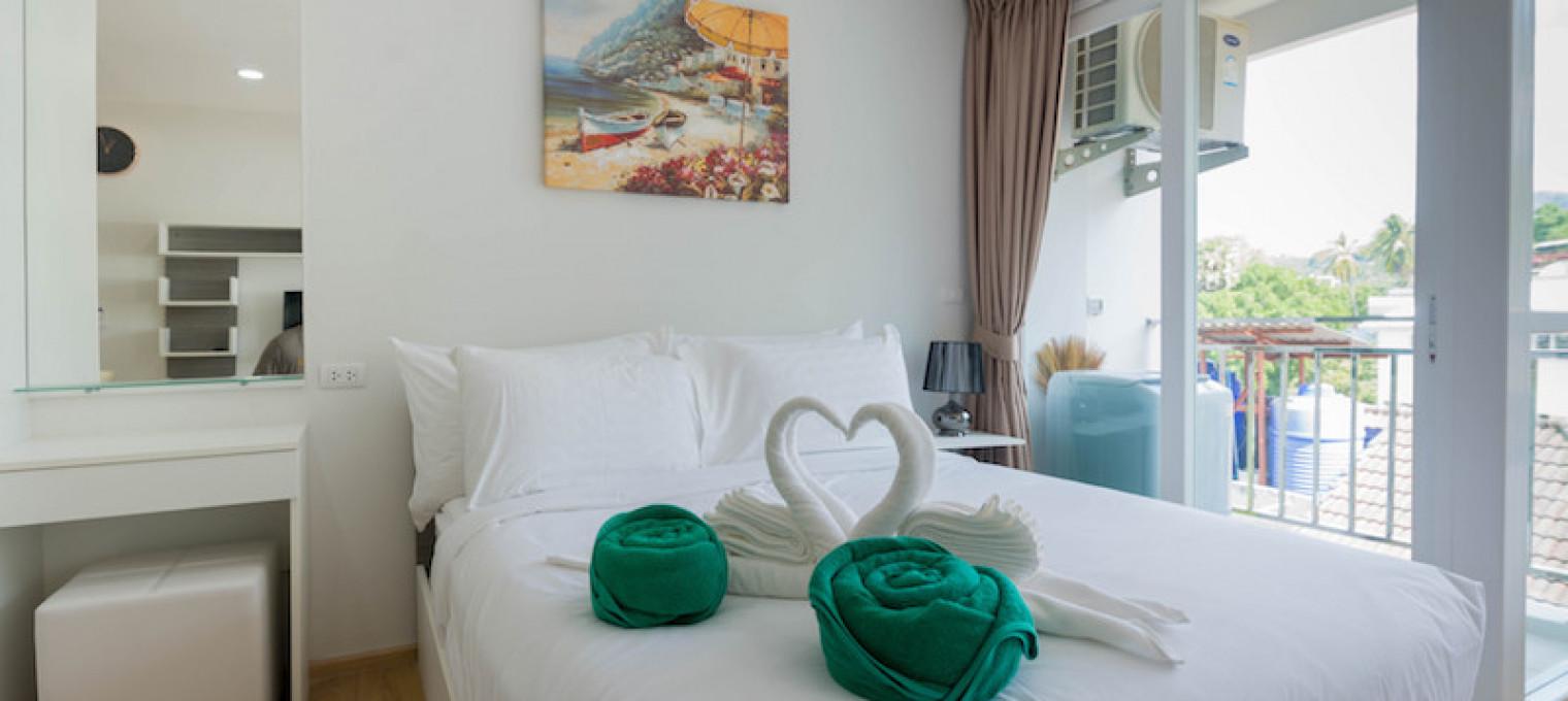 Односпальные апартаменты  на пляже на пляже Ката KT0001