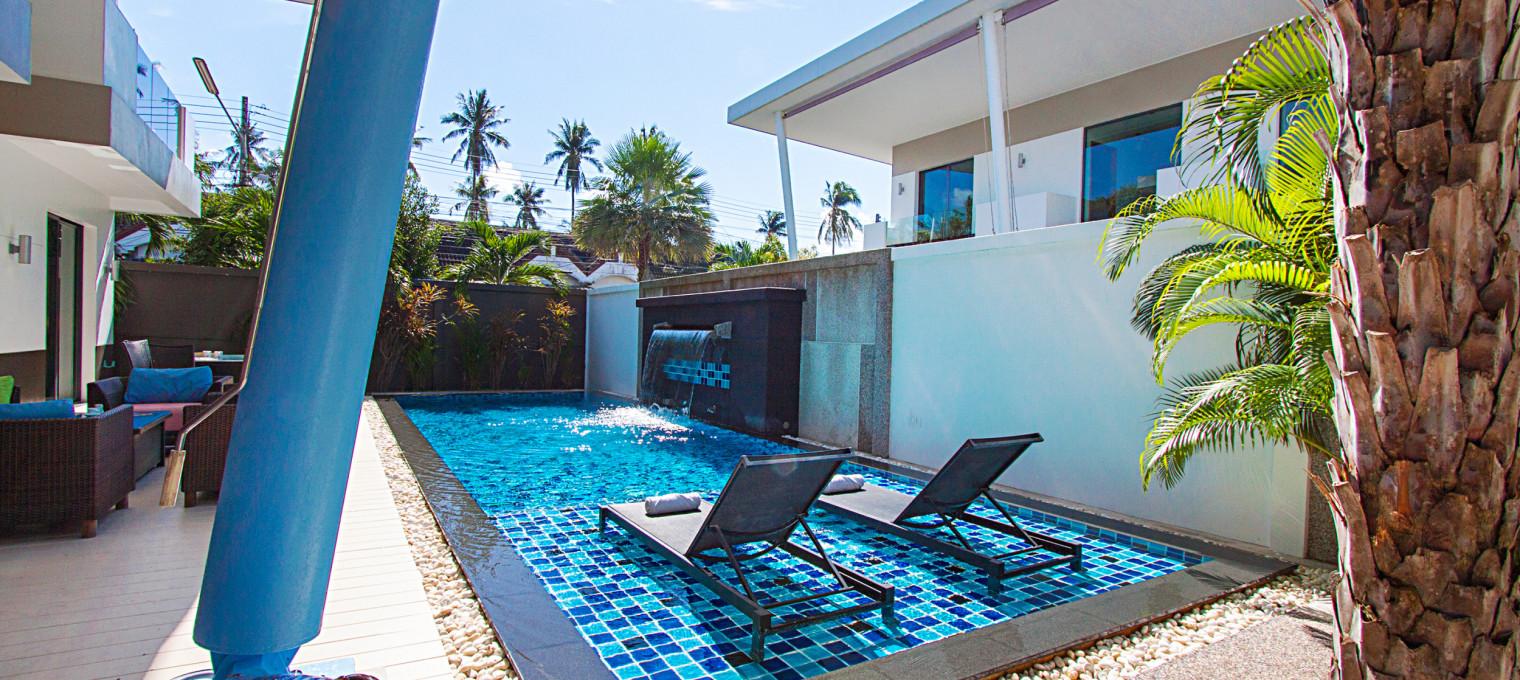 Роскошная двухэтажная вилла с 3-мя спальнями и бассейном в бухте Чалонг   CHL0007