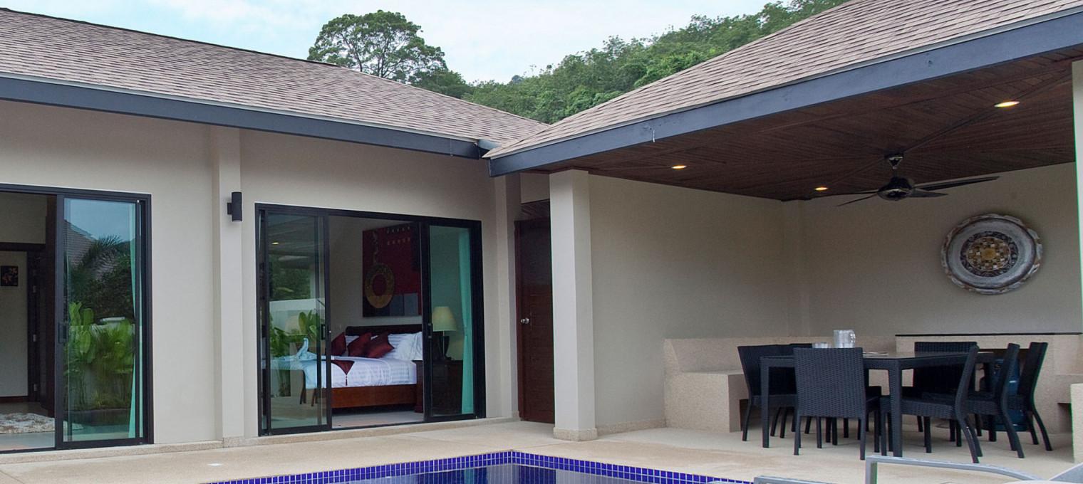 Вместительная вилла с 3 спальнями и беседкой рядом с бассейном в районе Найхарн NH0119