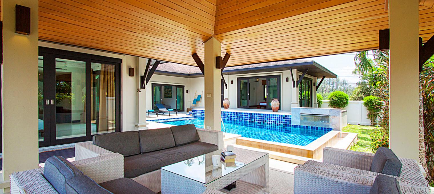 Изысканная тропическая вилла с 3-мя спальнями LG0015