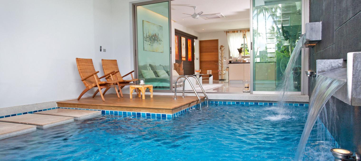 Стильная вилла с двумя спальнями и собственным причудливым бассейном CHL0008