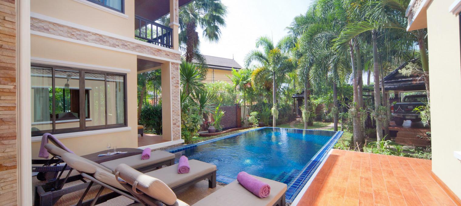 Потрясающая вилла с четырьмя спальнями и собственным бассейном в 400 метрах от пляжа Банг Тао BT0015